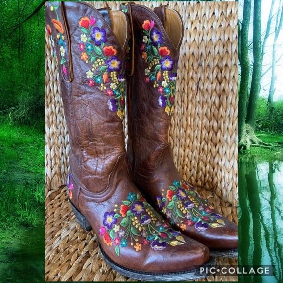 """a0e7c79d4b3 EUC Old Gringo """"Sora"""" Western Cowboy Boots 9.5B"""